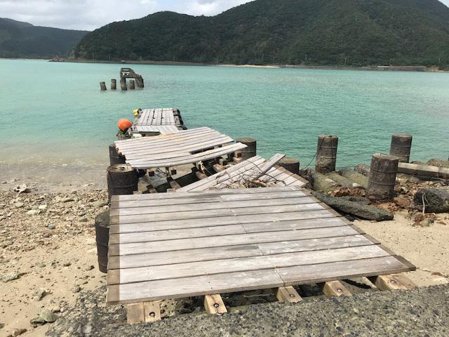 桟橋が壊れた!