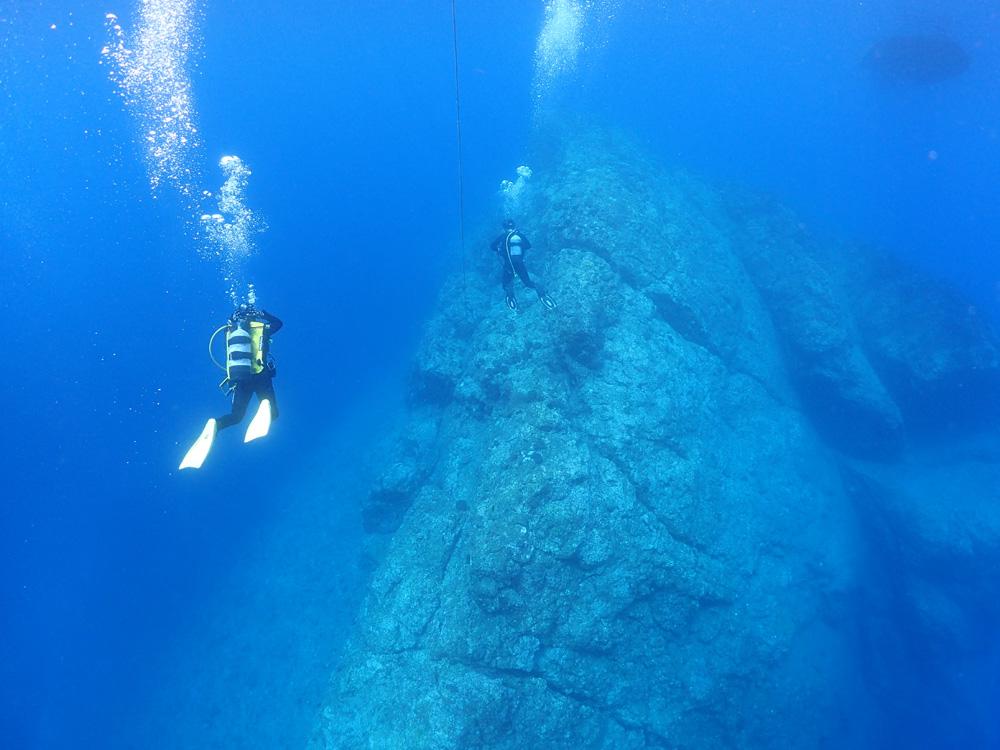 凪の外海でダイビング!